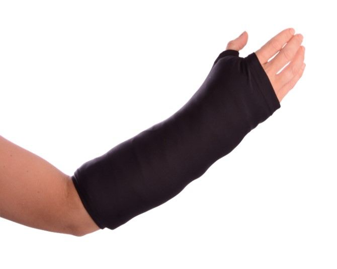 black arm cast cover