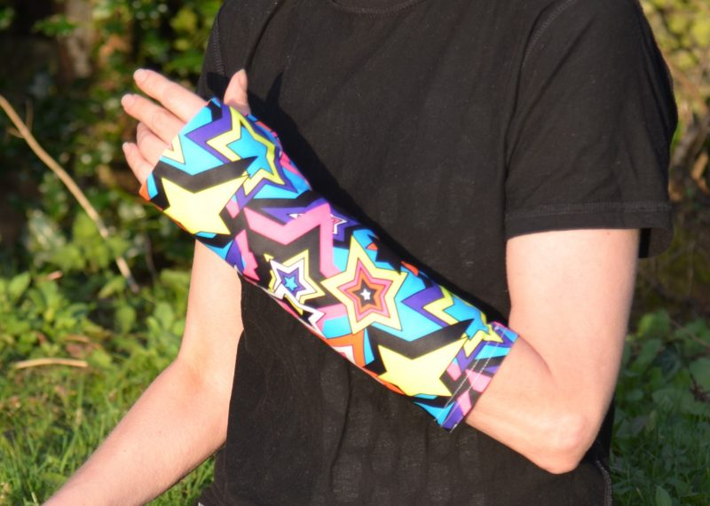 brighten up plaster casts with a funky supersleeves cast cover