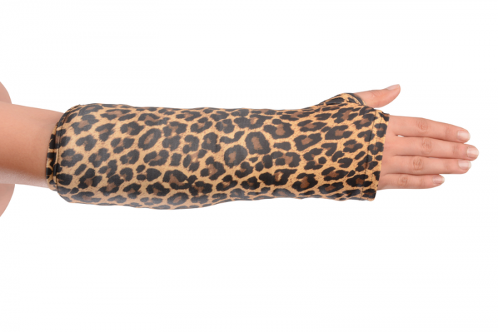cheetah arm cast cover