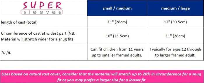 supersleeves cast cover sizes