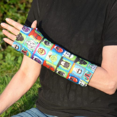 arm cast cover blue superhero