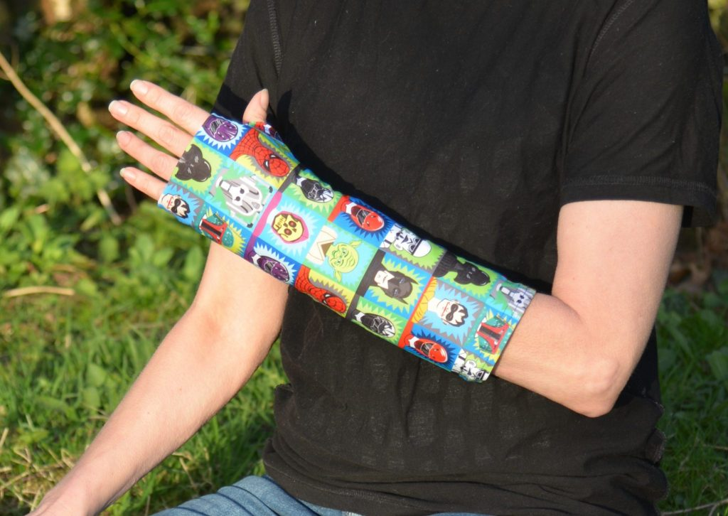 arm cast cover superhero blue supersleeves cast covers