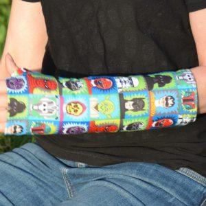 arm cast cover super hero