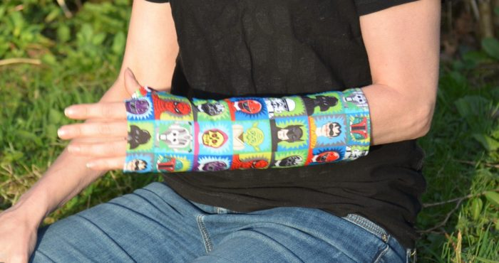 arm cast cover super hero
