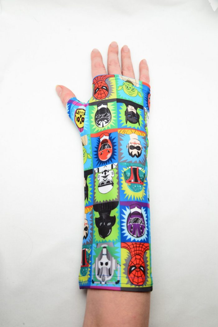 blue superhero arm cast cover