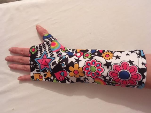 broken arm cast cover flower power