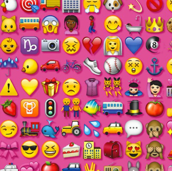 pink emoji cast cover