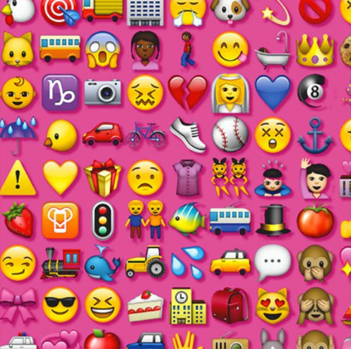 pink emoji cast cover