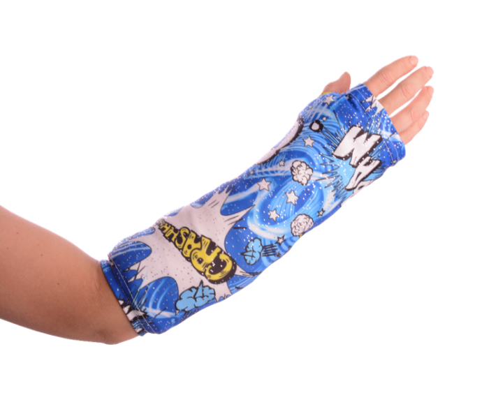 broken arm cast cover and protector