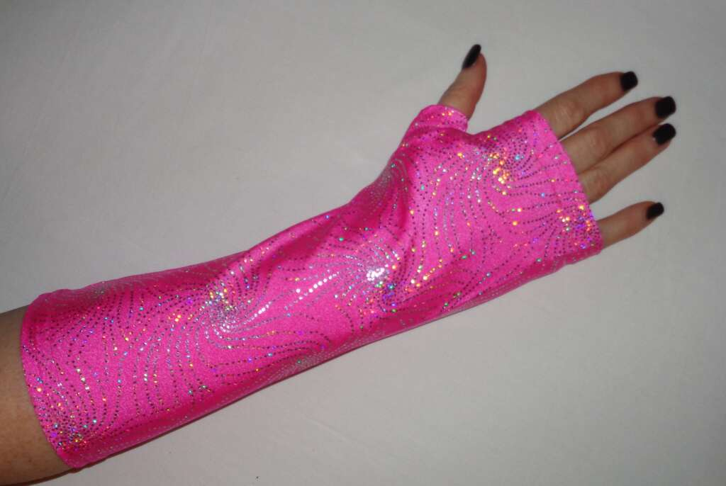 pink sequin cast cover